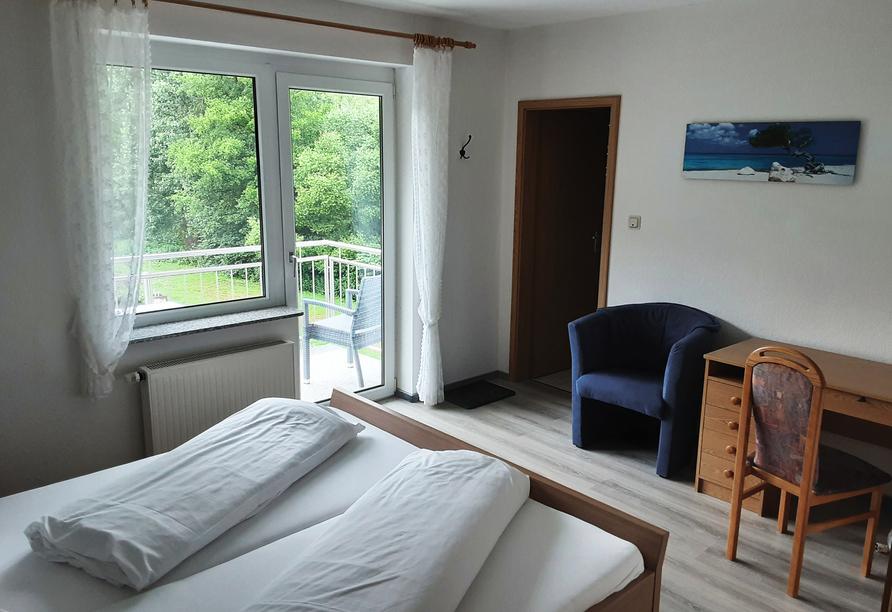 Hotel-Restaurant Forellenzucht, Doppelzimmer Balkon