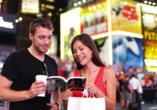 Entdecken Sie die zahlreichen Sehenswürdigkeiten wie den Times Square.