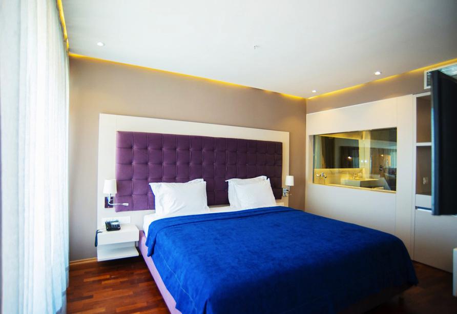Beispiel eines Doppelzimmers im Hotel Bougainville Bay Resort & Spa