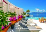 Ihr Hotel Bougainville Bay Resort & Spa empfängt Sie traumhaft am Ionischen Meer gelegen.