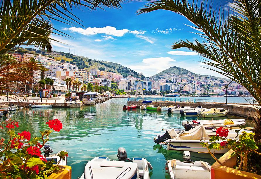 Genießen Sie Ihren Urlaub in Saranda, im Süden Albaniens.
