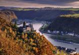 Burg Katz bei St. Goarshausen kurz vor dem Loreleyfelsen
