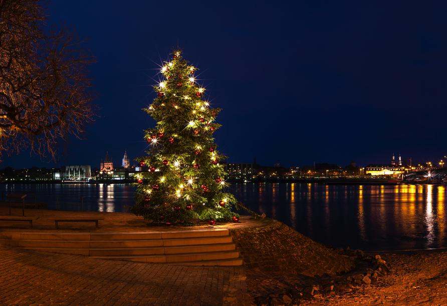 Verbringen Sie Ihr Weihnachtsfest am Rhein.