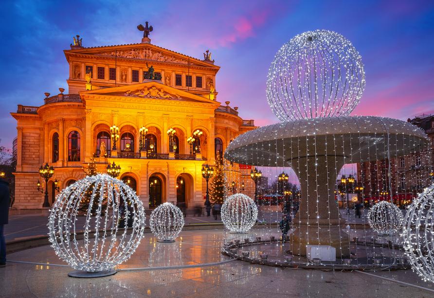 Die Alte Oper ist eines der schönsten Gebäude Frankfurts.