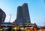 Außenansicht des Leonardo Royal Hotels Frankfurt