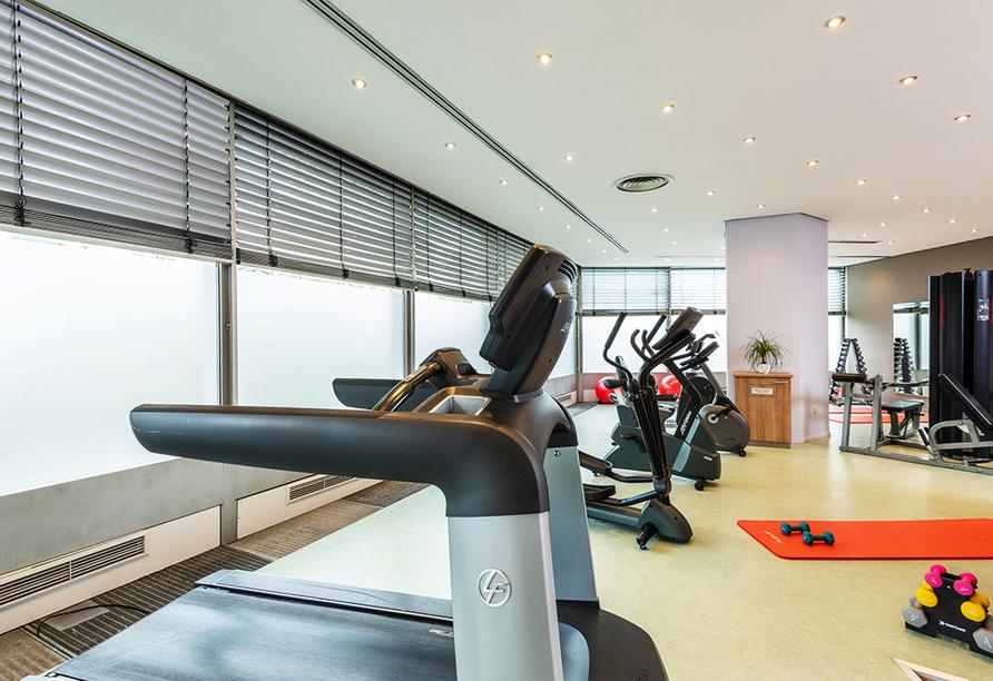 Im Fitnessraum können Sie sich richtig auspowern.