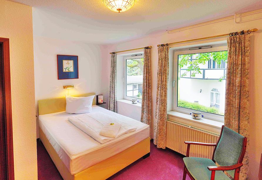 Beispiel eines Einzelzimmers im Hotel Gut Funkenhof