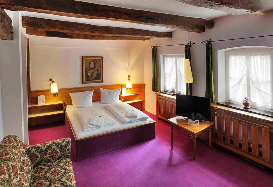 Beispiel eines Doppelzimmers Komfort im Hotel Gut Funkenhof