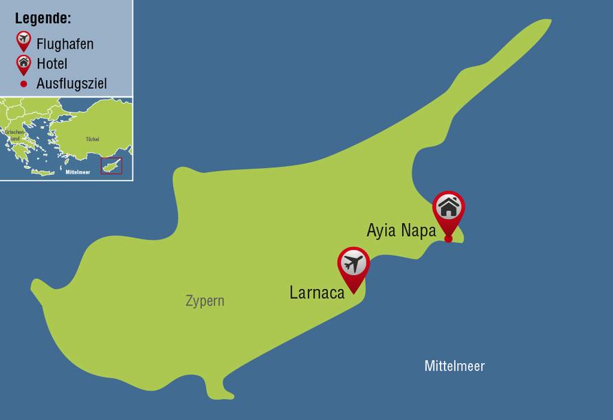 Hotel Limanaki Beach, Reisezielkarte