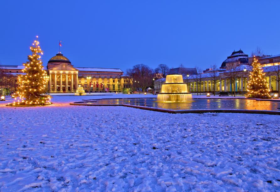 Das prachtvolle Kurhaus in Wiesbaden