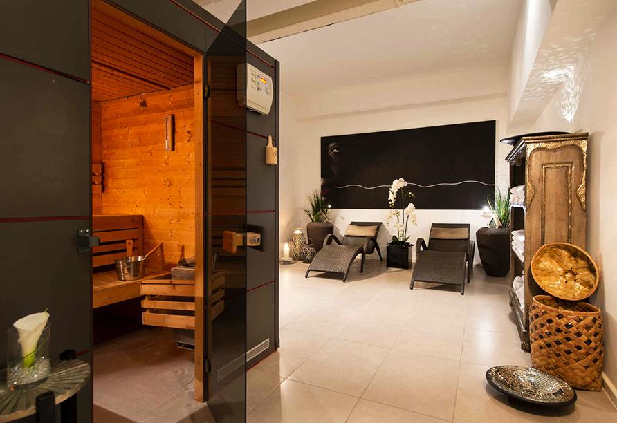 Entspannen Sie im Wellnessbereich des Hotels.