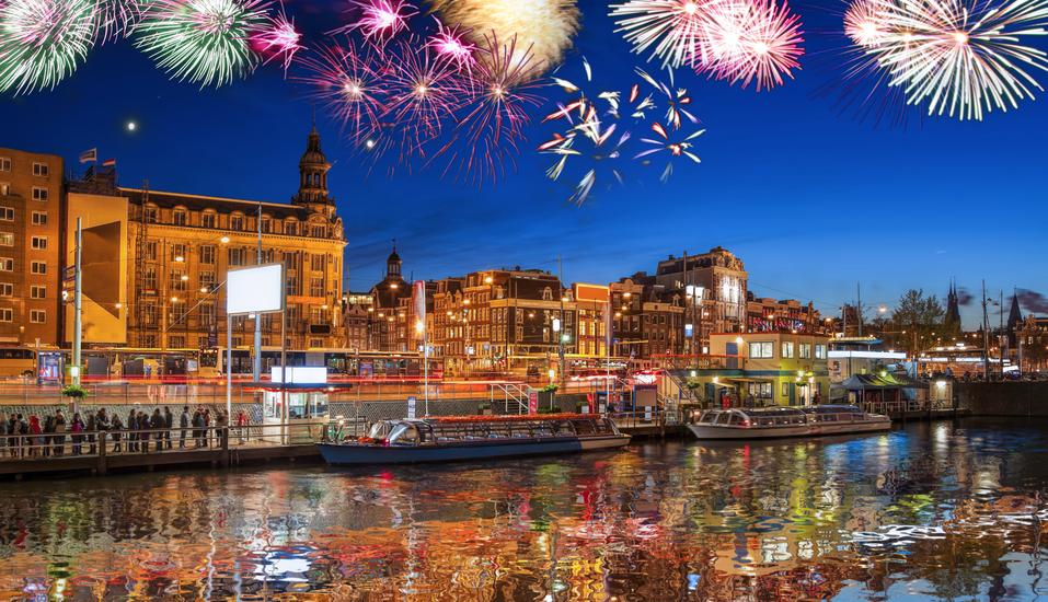 Feiern Sie Silvester im schönen Amsterdam.