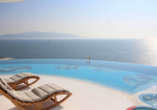 Genießen Sie die tolle Aussicht aufs Meer.