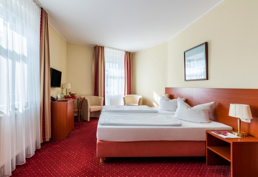 Beispiel eines Doppelzimmers im AZIMUT Hotel Dresden