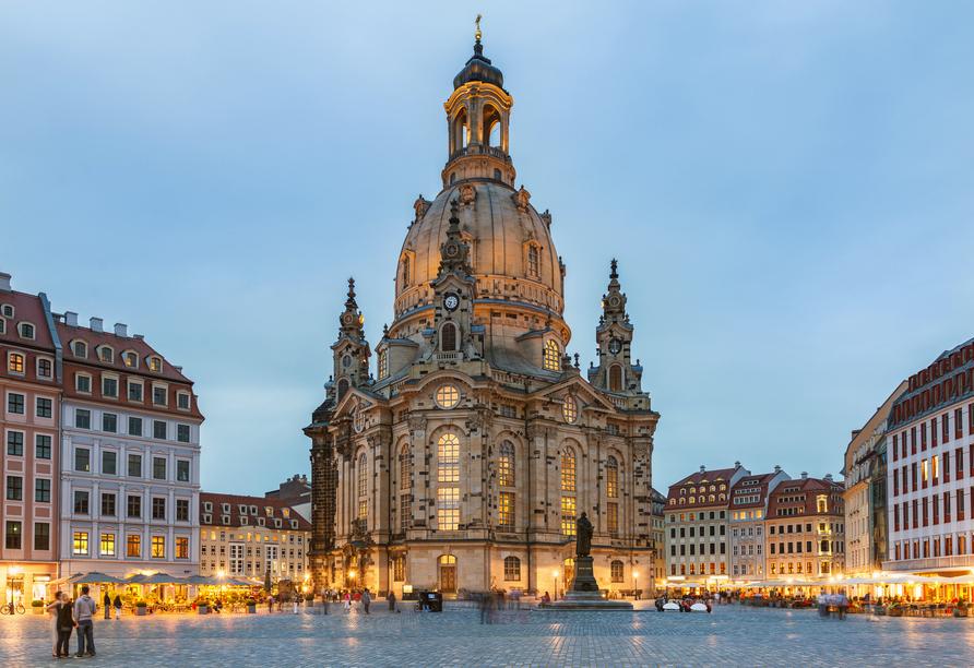 Die Frauenkirche am Neumarkt in Dresden