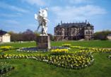 Im Großen Garten, der größte Park Dresdens, finden Sie das barocke Lustschloss Palais.