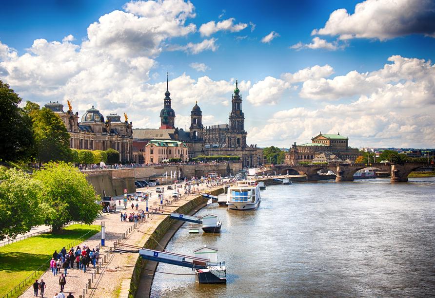 Dresden wird auch das deutsche Elbflorenz genannt.
