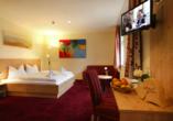 Beispiel eines Doppelzimmers im Zuflucht Natur- und Sporthotel