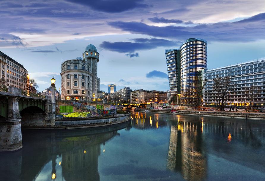 In Wien trifft barocker Baustil auf moderne Architektur.