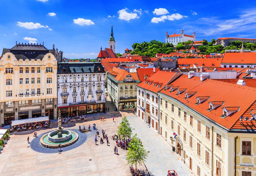 Willkommen in Bratislava in der Slowakei