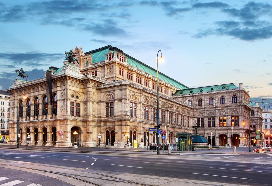 Besuchen Sie eines der bedeutendsten Opernhäuser der Welt: Die Wiener Staatsoper.