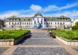 Das Palais Grassalkovich – das Präsidentenpalais – ist Sitz des slowakischen Präsidenten.