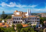 Der Palácio Nacional de Sintra wird Sie beeindrucken.