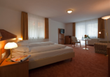 Beispiel eines Doppelzimmers im Wellnesshotel Rothfuss