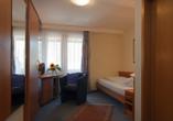Beispiel eines Einzelzimmer im Wellnesshotel Rothfuss