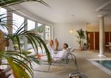 Ein einzigartiger Panoramablick über den Kurort Bad Wildbad erwartet Sie im Wellnessbereich des Wellnesshotels Rothfuss.