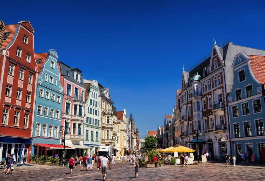 Die historische Altstadt von Rostock