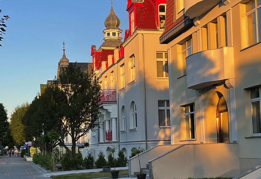 Hotel Atol Resort in Swinemünde, Polnische Ostsee, Außenansicht