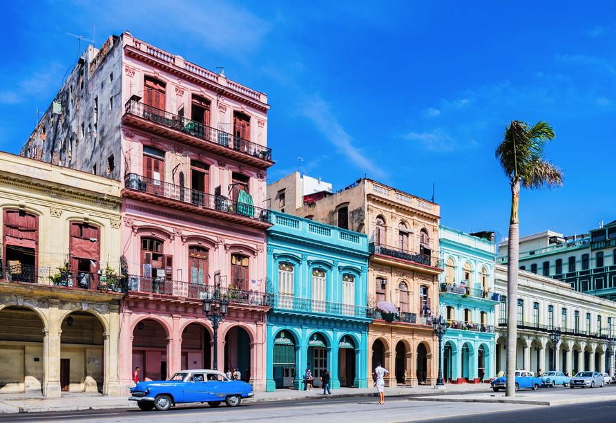 Kombination aus Städteerlebnis und unberührtem Urlaubsparadies, Hauptstraße von Havanna