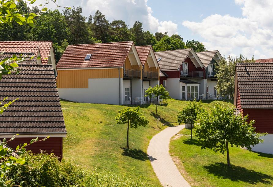 Precise Resort Marina Wolfsbruch, Beispiel Ausblick Appartement Ferienhaus