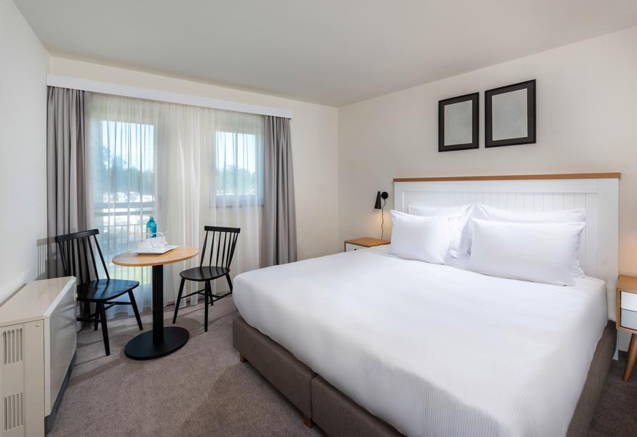 Precise Resort Marina Wolfsbruch, Beispiel Schlafzimmer Ferienhaus