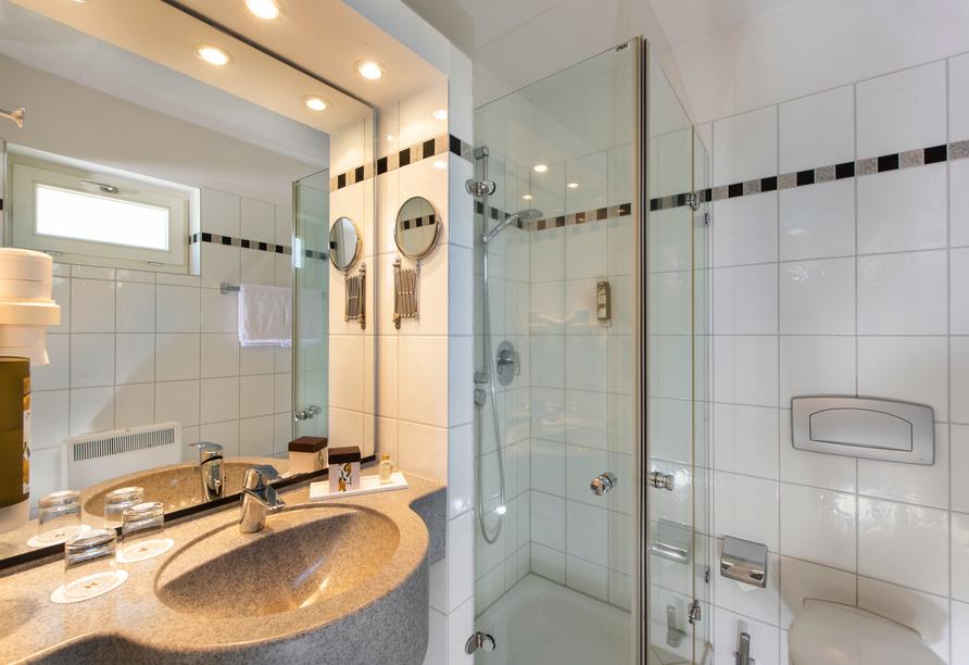 Precise Resort Marina Wolfsbruch, Beispiel Badezimmer Ferienhaus