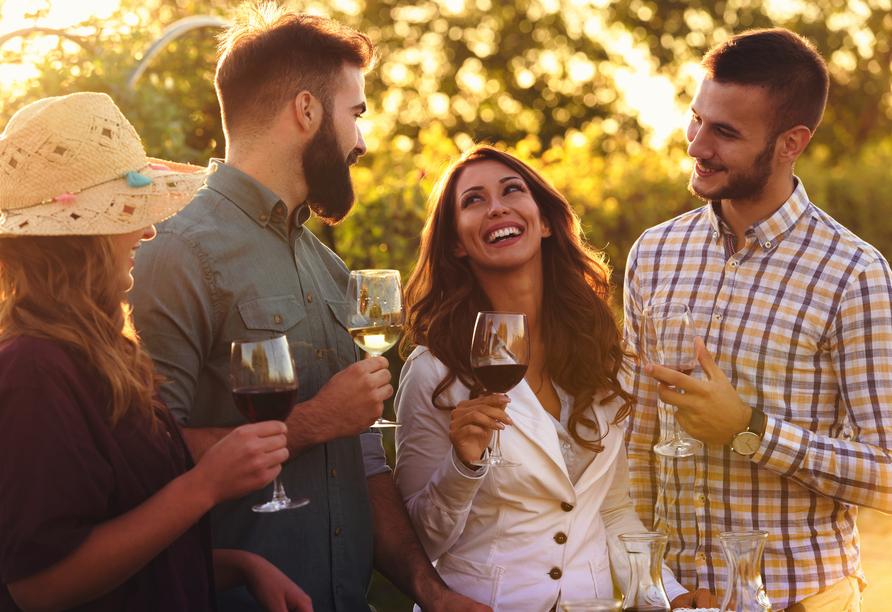 Freuen Sie sich beim optionalen Ausflug auf eine Weinverkostung.