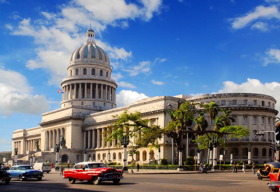 Kombination aus Städteerlebnis und unberührtem Urlaubsparadies, Capitolio Nacional Havanna