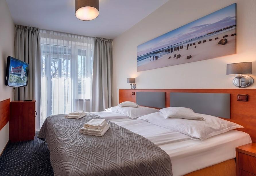 Hotel Perelka in Kolberg, Zimmerbeispiel