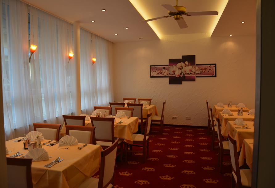 Der Speisesaal des Hotel Krone