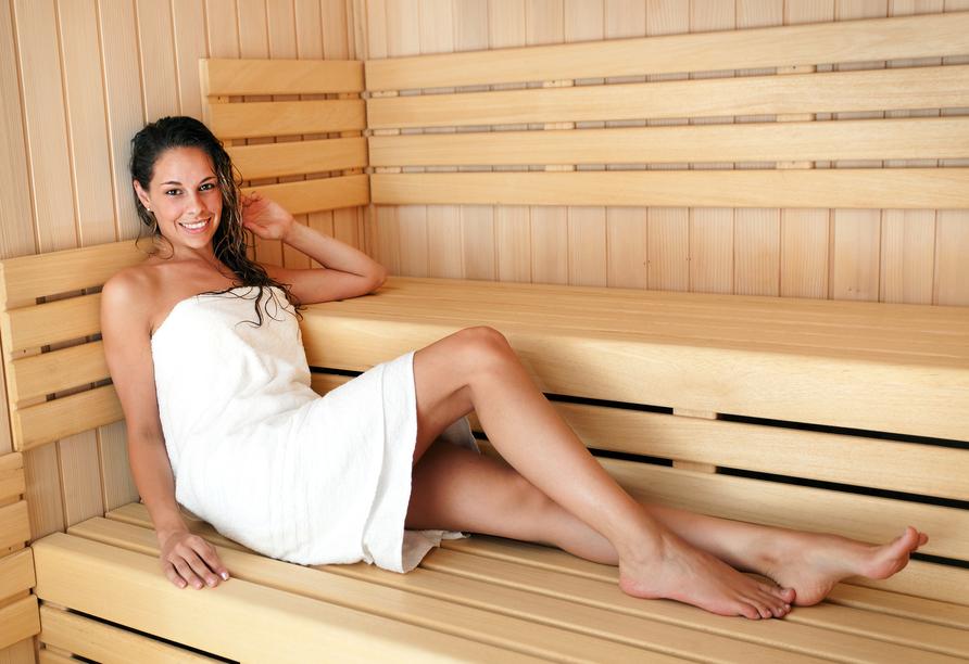 Lassen Sie es sich in der Sauna gutgehen!