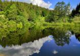 Auch die Seen der Umgebung laden zu einem Besuch ein.