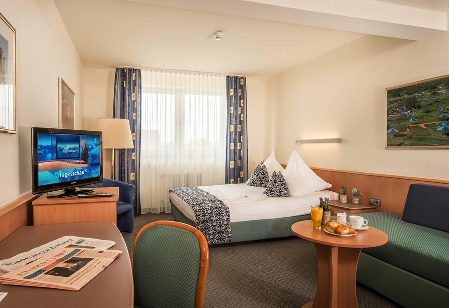 Beispiel eines Einzelzimmers im Hotel Am Moosfeld