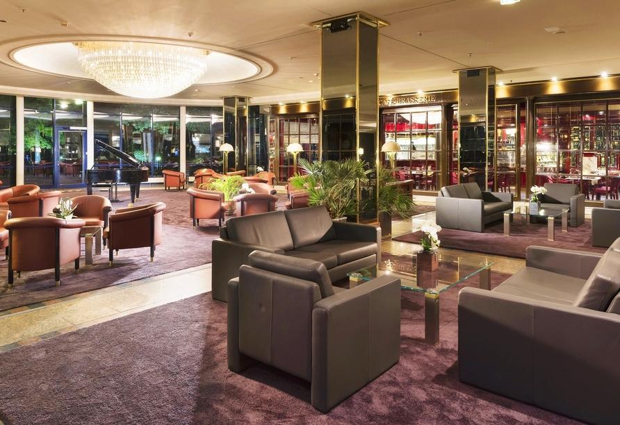 Nehmen Sie Platz in der gemütlichen Lounge des Maritim Hotels Bonn.