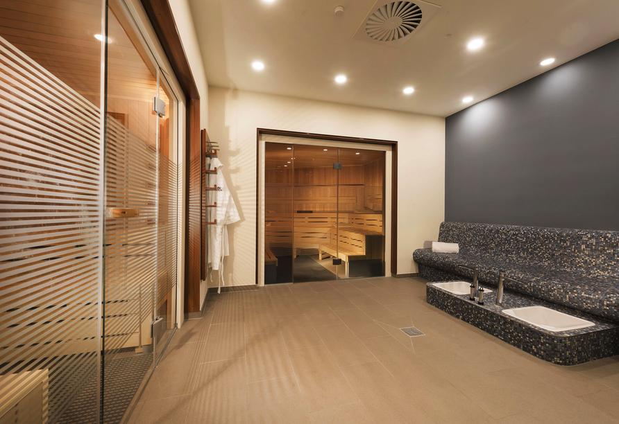 Entspannen Sie in der Sauna des Maritim Hotels Bonn.