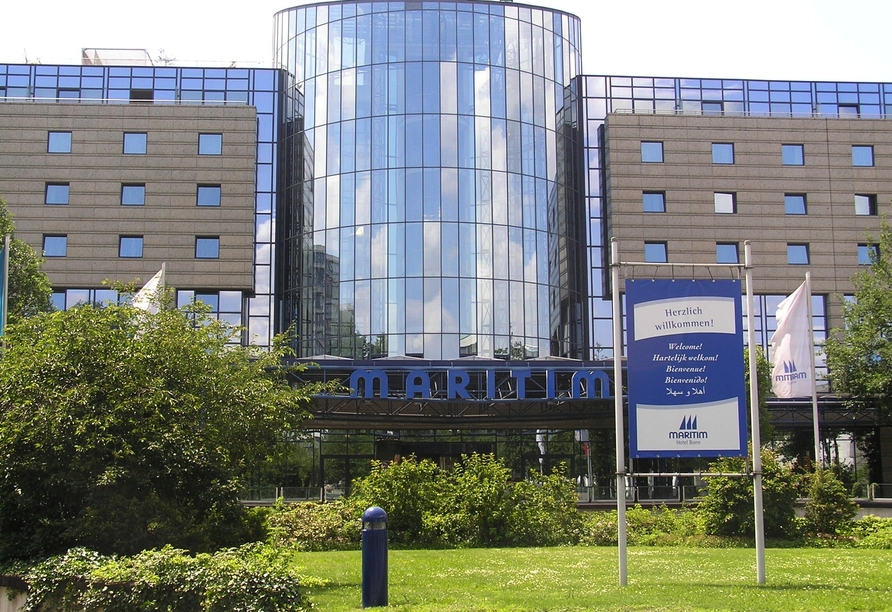 Außenansicht des Maritim Hotels in Bonn.