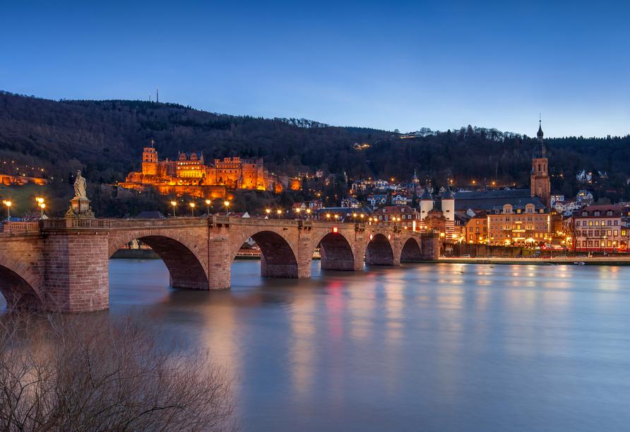 Besuchen Sie das historische Heidelberg am Neckar.