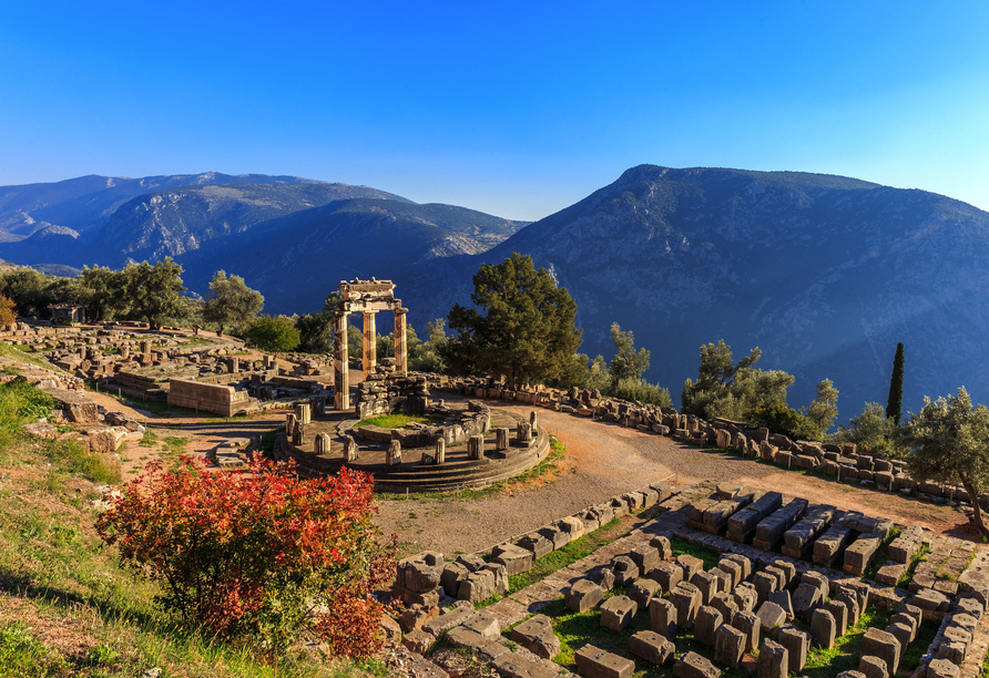 Die Ausgrabungsstätte von Delphi ist eine der drei UNESCO-Weltkulturerbestätten, die Sie sehen werden.