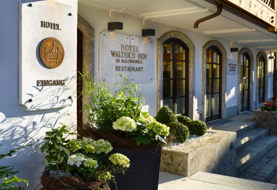 Seehotel Waltershof, Eingangsbereich Hotel