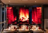 Lassen Sie sich von der gemütlichen Atmosphäre im hotelinternen Restaurant